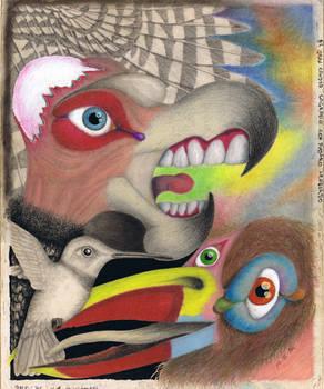 [1996] Gran condor sagrado con pajaro lenguado