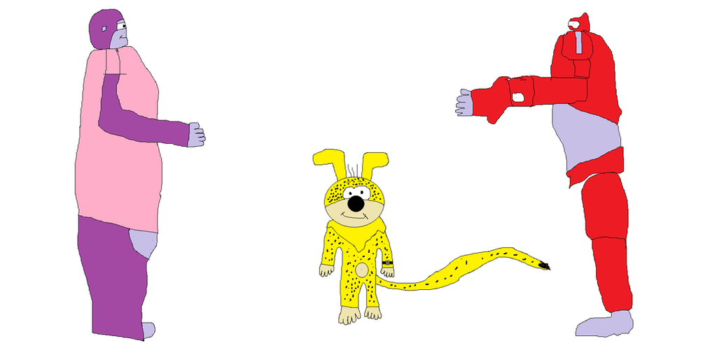 Marsupilami and Maurice meets Baymax by BuddyBoy600
