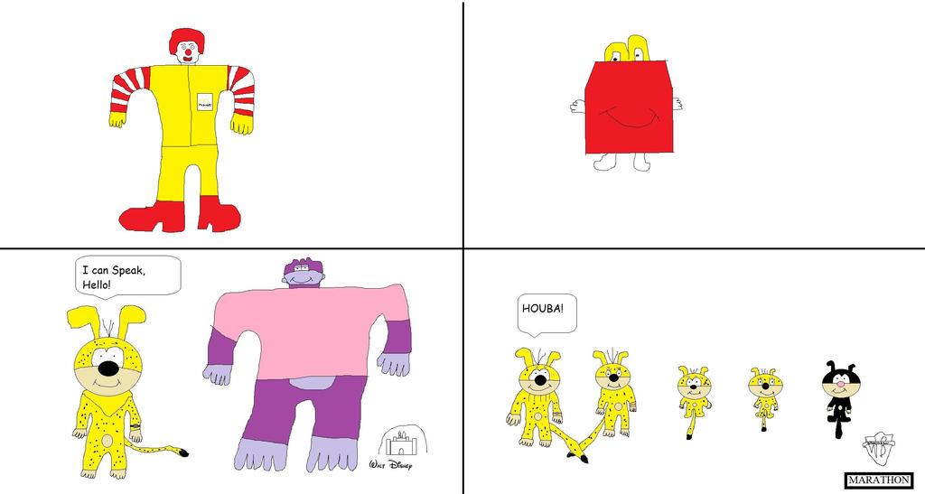 Ronald McDonald the Clown vs Happy the Bag by BuddyBoy600
