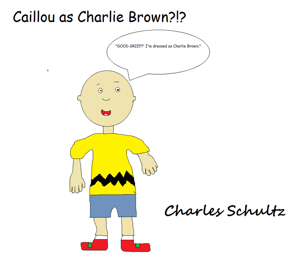 caillou as charlie brown by buddyboy600 on deviantart