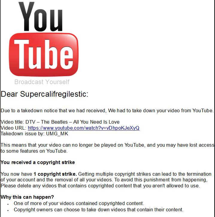 The beatles is blocked from youtube due to a by buddyboy600 on the beatles is blocked from youtube due to a by buddyboy600 ccuart Image collections