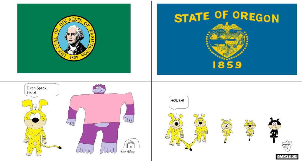 Washington vs Oregon by BuddyBoy600