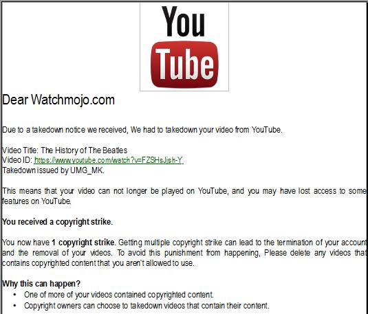 WatchMojo gets a copyright strike by UMG_MK by BuddyBoy600