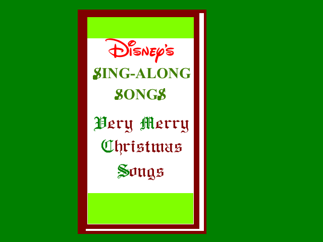 Disney Sing Along Songs Very Merry Christmas Songs.Disney S Sing Along Songs Very Merry Christmas By