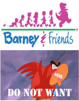Iago does not want Barney and Friends by BuddyBoy600