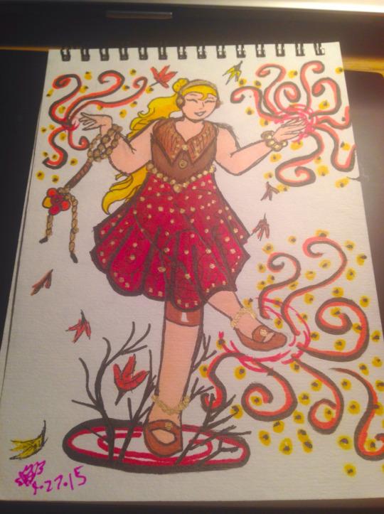Fall magical girl.