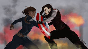 Captain America Au 4 by plastic-pipes