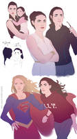 Supergirl in training sketches
