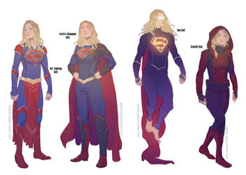 Supergirl Alternate Outfits by plastic-pipes