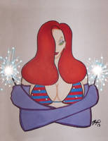 Jessica as Miss Fourth of July by JokerHarley2345