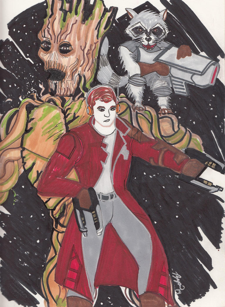 Marvel Guardians of the Galaxy by JokerHarley2345