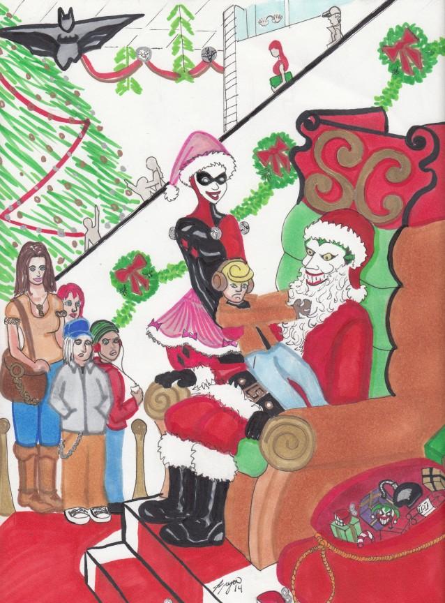Joker Santa by JokerHarley2345