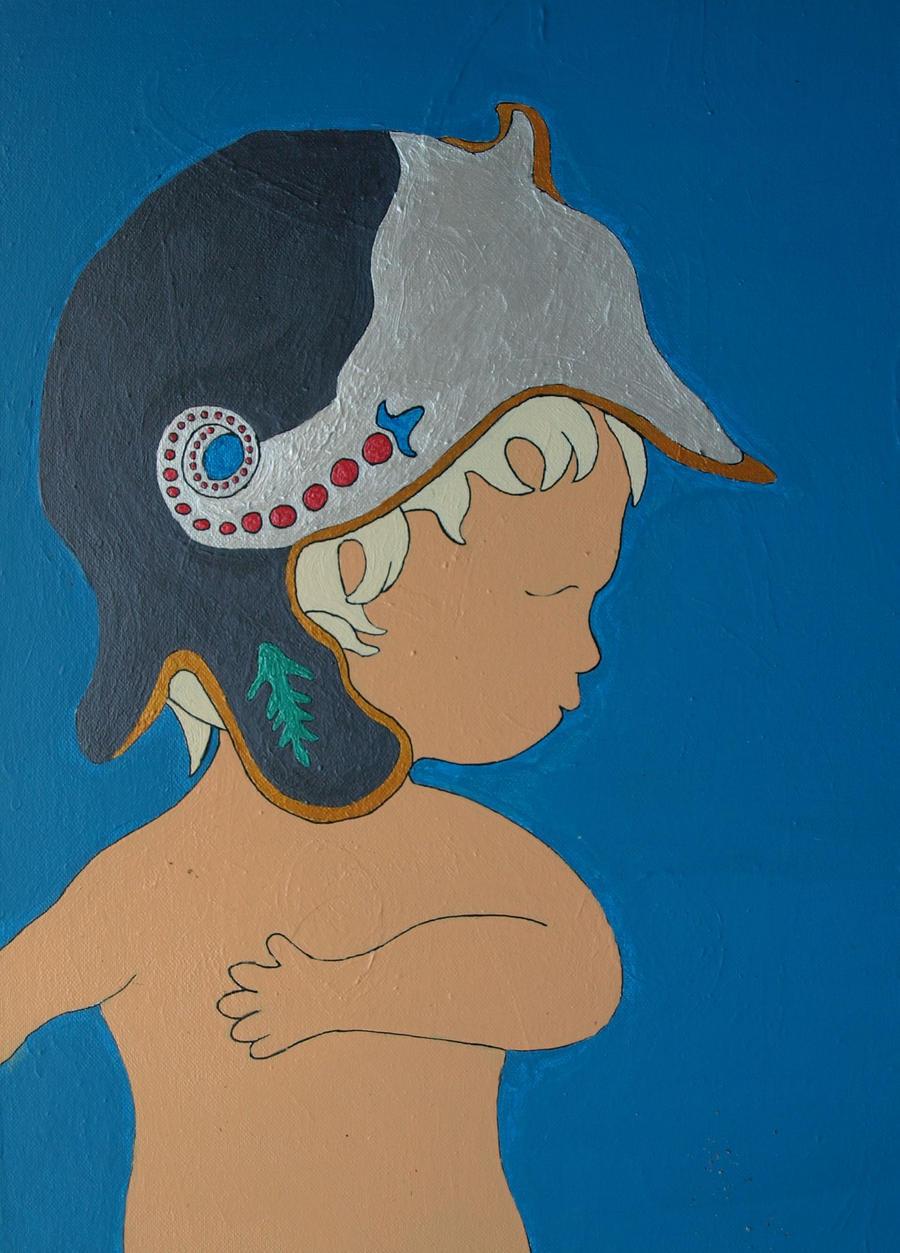 putto wingless cherub by nesslauncher1