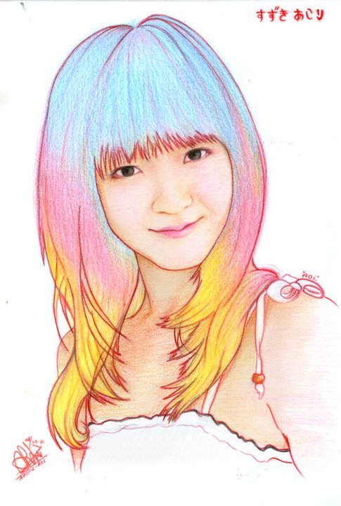 Suzuki Airi_Rainbow Hair by aoisugimoto