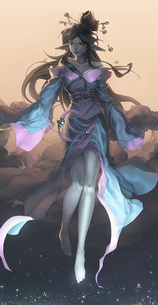 Commission - Luna by shilin