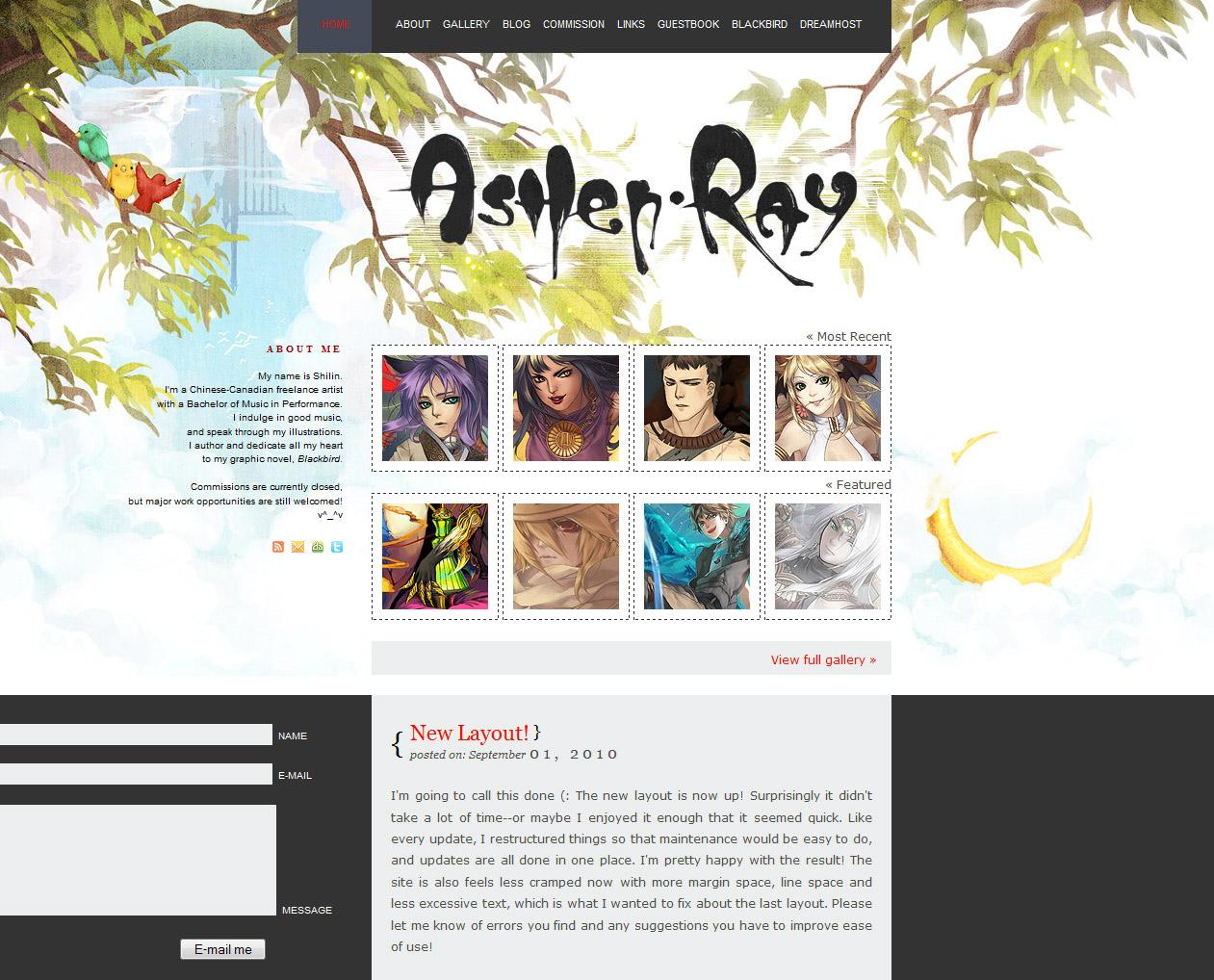 Website - Ashen Ray V by shilin