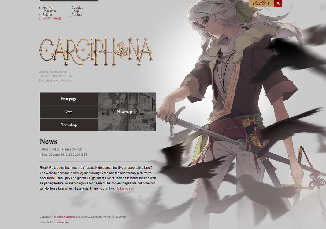 Carciphona website layout by shilin on deviantart for Top websites for artists
