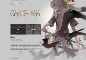 Carciphona website layout