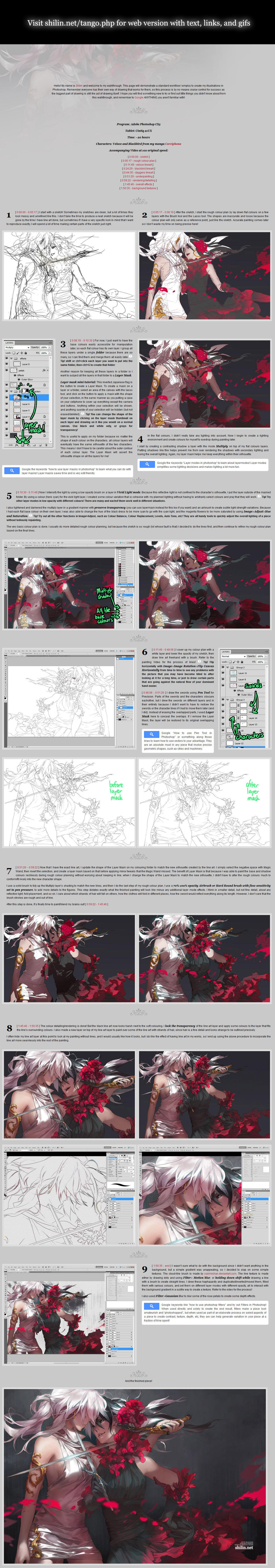 2013 Shilin's drawing tutorial/walkthrough by shilin