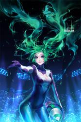 Fanart - DJ Sona by shilin