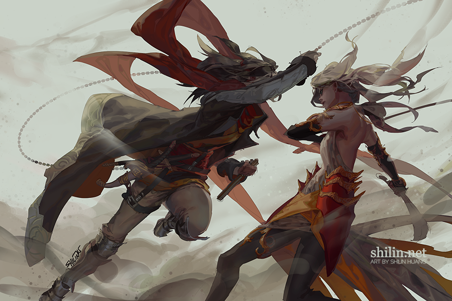 Fight - sketch for Patreon