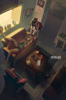 Lazy day - rough drawing for patreon by shilin