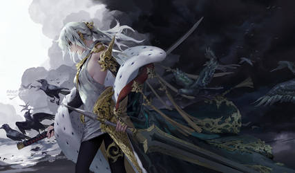The augur / The queen of swords by shilin