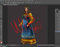 Viking woman  -  WIP