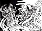 Diablo - Malthael and Tyrael