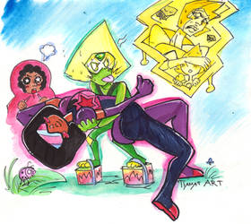 Stevenbomb with Peridot and YD