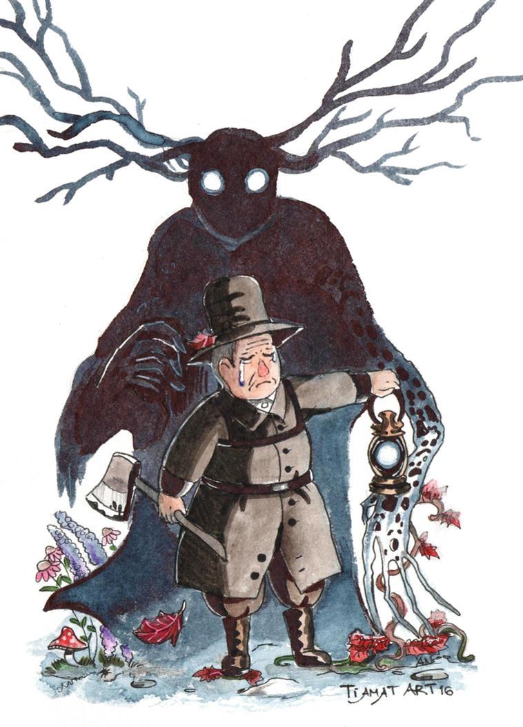 Over The Garden Wall Beast And Woodman By Aliennocsastarino On Deviantart