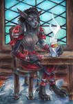 Meeting in tavern [Commission]