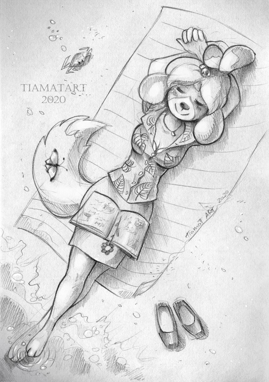 Animal Crossing: Isabelle sketch