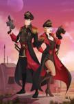Commission: 40k Commissar Couple
