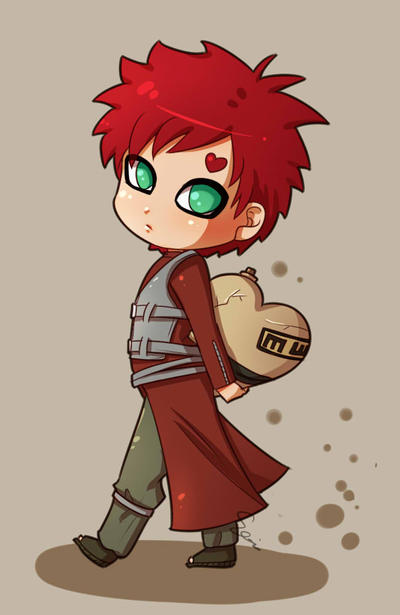 Chibi Gaara by Sonten on DeviantArt Gaara And Naruto Chibi