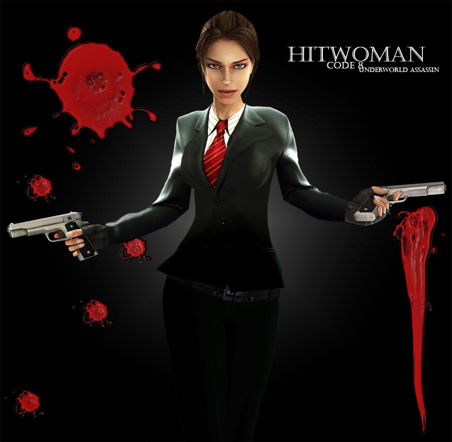 Hitwoman by tombraiderfanart