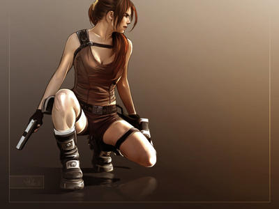 Tif as Lara by Priscillia by tombraiderfanart
