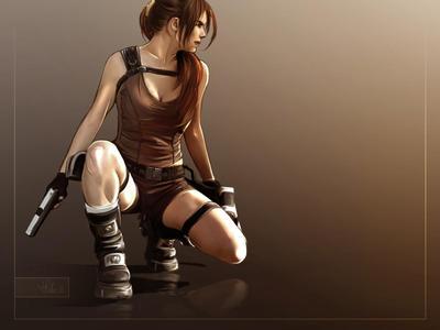 Tif as Lara by Priscillia by tombraiderfanart