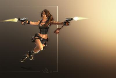 Lara Running by Priscillia by tombraiderfanart