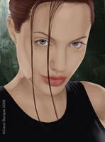 Angelina Jolie as Lara Croft by tombraiderfanart