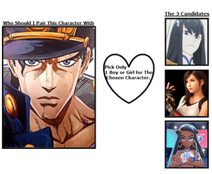 Who should I pair Jotaro with? (Closed) by BLA5T3R