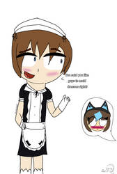 Flustering a cat girl