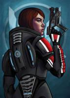 Shepard Commander by Sabrea
