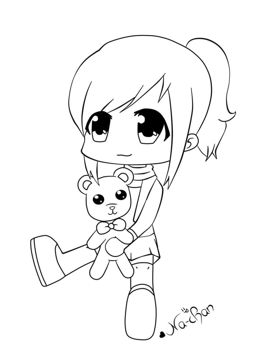 Line Drawing Generator : Anime chibi lineart by na chan on deviantart