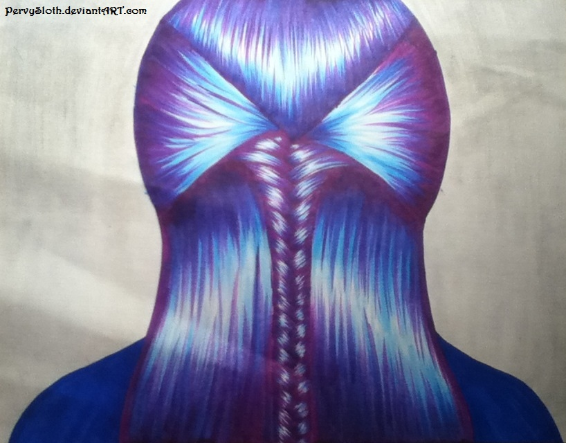 Purple And Blue Hair By Pervysloth On Deviantart