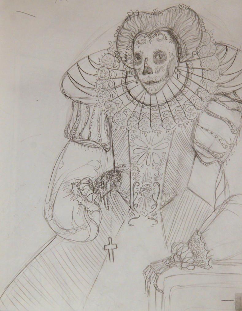 Queen Elizabeth by Esskaeye