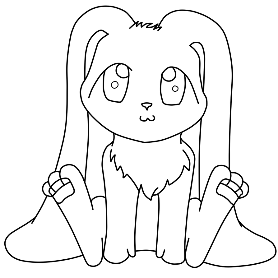 Line Art Bunny : Cute bunny lineart by montblanc on deviantart