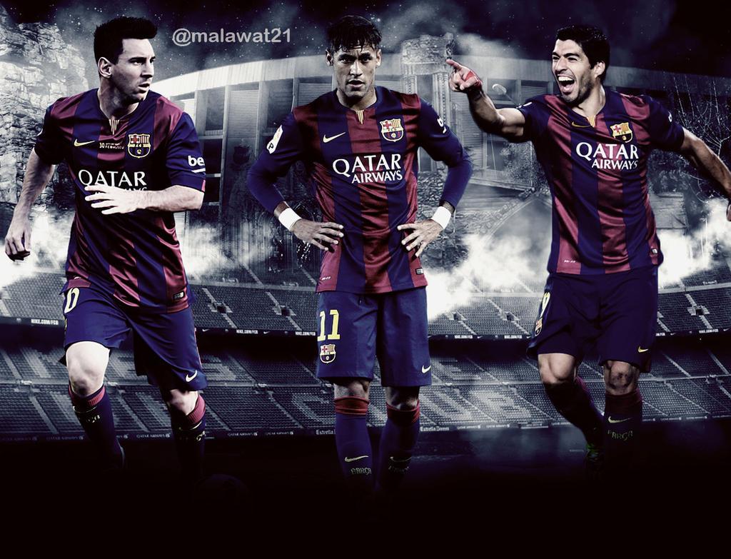 Messi Neymar Suarez By Malawat21