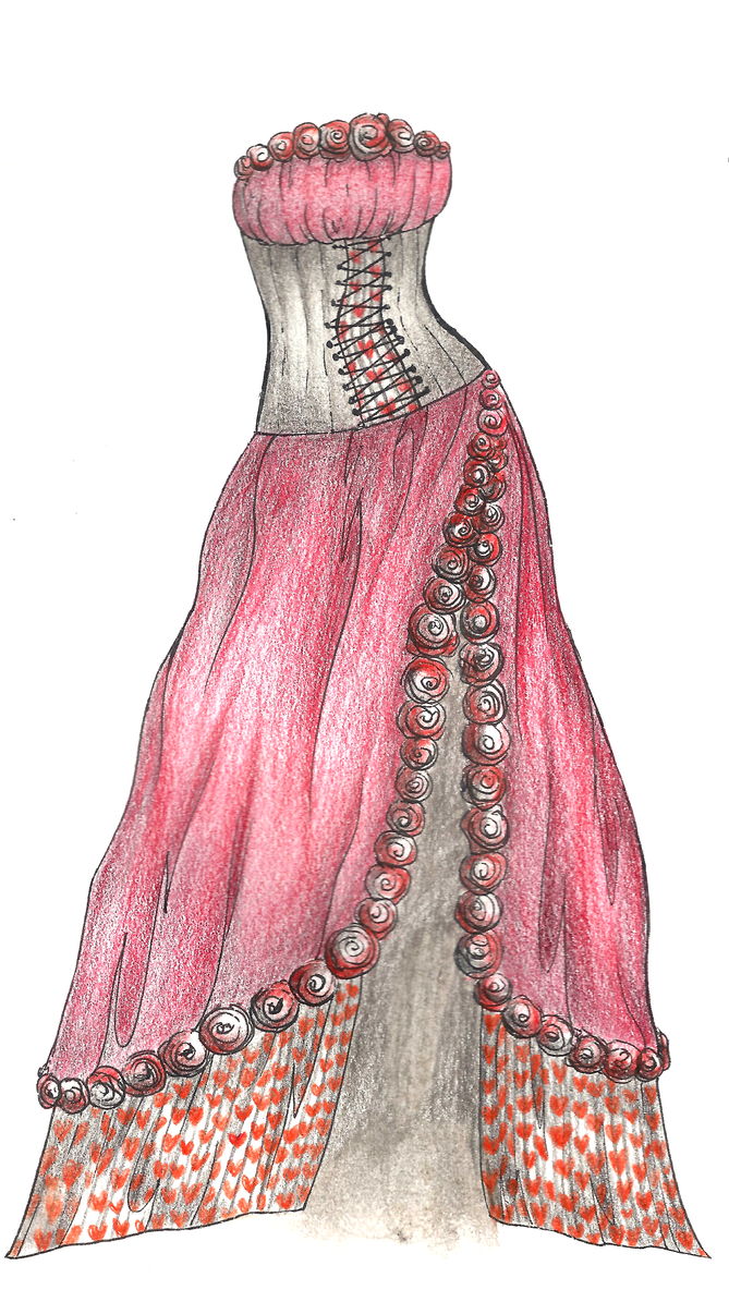 of hearts dress design by ivory dreams on deviantart