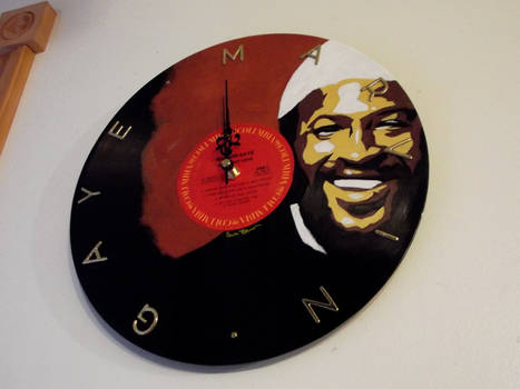 COM: Marvin Gaye Vinyl Record Clock